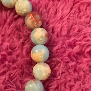 Jewelry - Agate Sea Sediment Stone Bracelet/Healing Beads